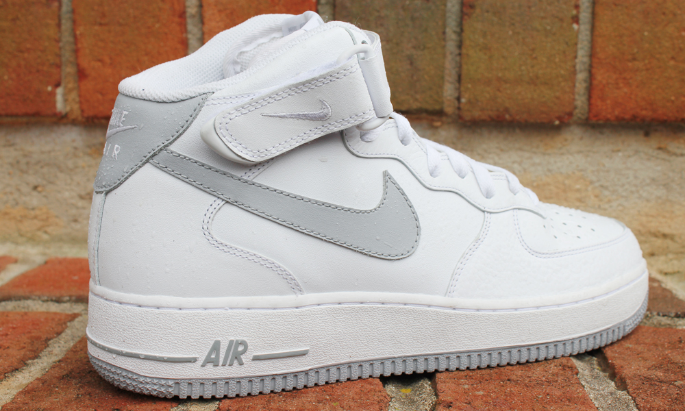 best service 13b12 94848 Nike Air Force 1 Mid (White Grey). af1midgrey1  af1midgrey2  af1midgrey3