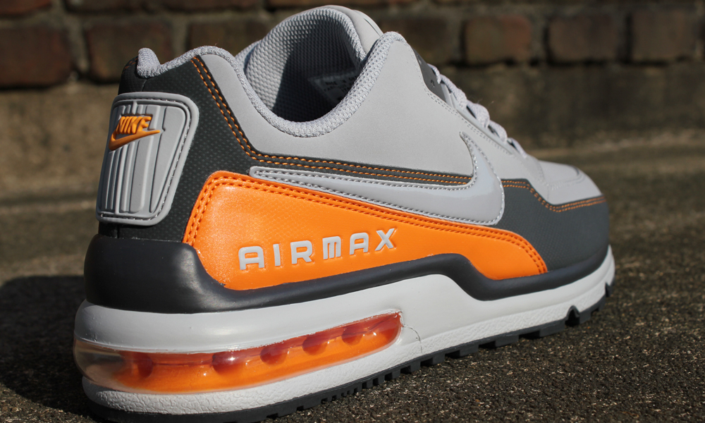 nike air max ltd orange grey white fabric