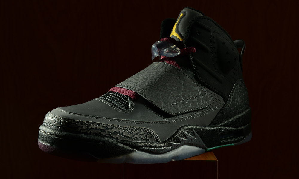 low priced 28039 e032a It seems like the Bordeaux colorway could never go wrong. This time, it  makes an appearance on the heavily detailed Jordan Son of Mars.