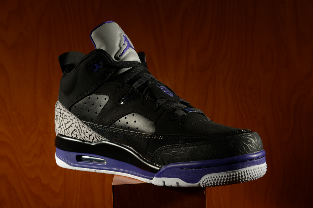 """best loved 6b9b3 3daaf As a supplement to the retro release of the Jordan V in a week, the Jordan  Son Of Mars Low """"Grape hits Footaction retailers tomorrow."""