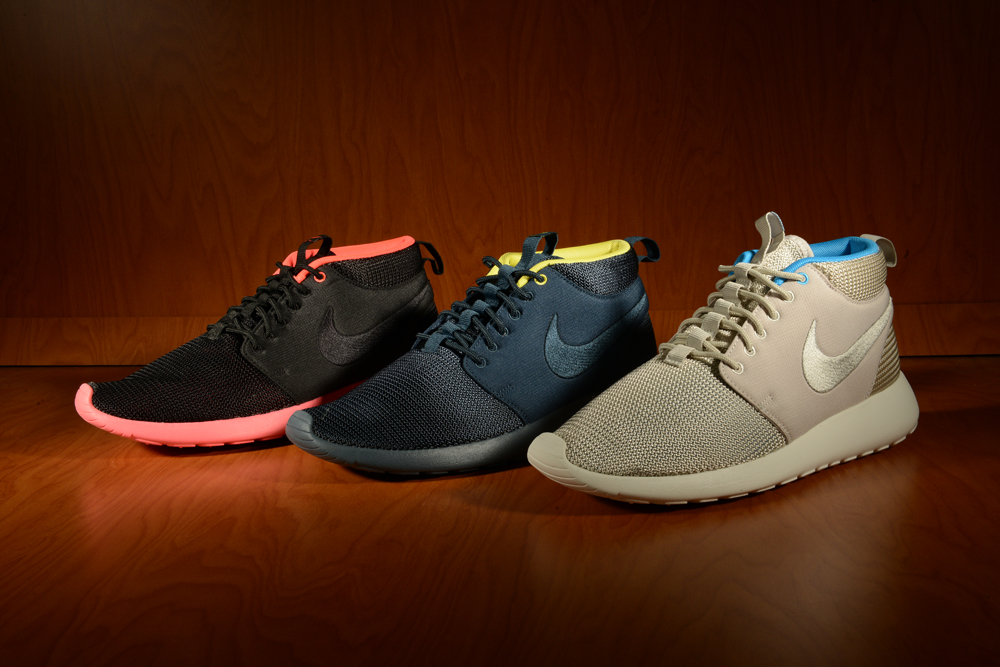 reputable site 2c36e 35c7e Nike Roshe Run Mid (NavyYellow, BlackAtomic Red, MortarBlue Hero).  8008505A 8008516A 8008518A 8008520A ...