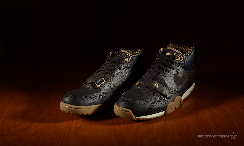 "detailed look 0ce9c 028e5 A performance-first trainer in its past life, the Nike Air Trainer 1 Mid  ""Brogue"" is now a sneaker for day-to-day living with a premium colorway."