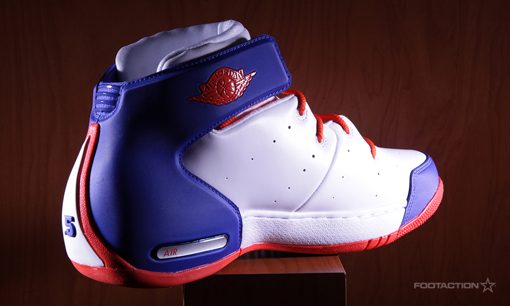 more photos 5354c 9803d ... home blue white orange basketball shoes d61d3 a3dac  wholesale the new  york knicks version of the jordan melo 1.5 drops in the teams colorway