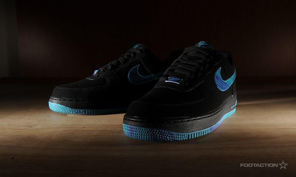 best service b6448 f5e32 Nike Air Force 1 Low Black Turbo Green. FA-AF1BlkTrboGrn- ...