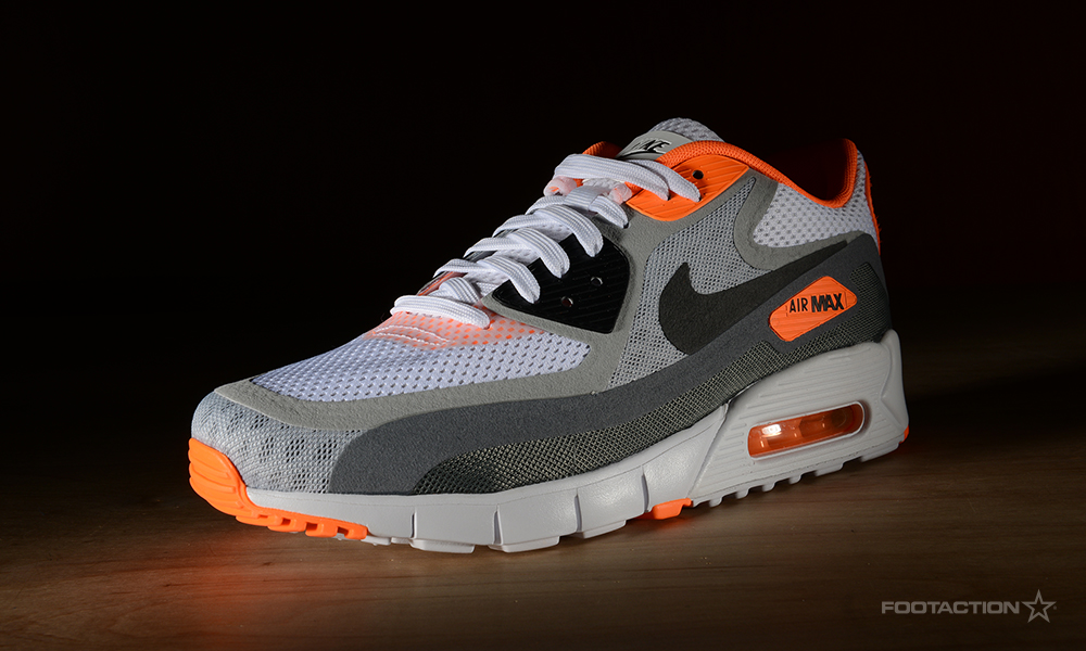 4f2ae57823 Nike Air Max 90 Breathe (2 Colorways) (White/Black/Wolf Grey/Orange &  White/Dark Obsidian/Varsity Royal)Footaction Star Club