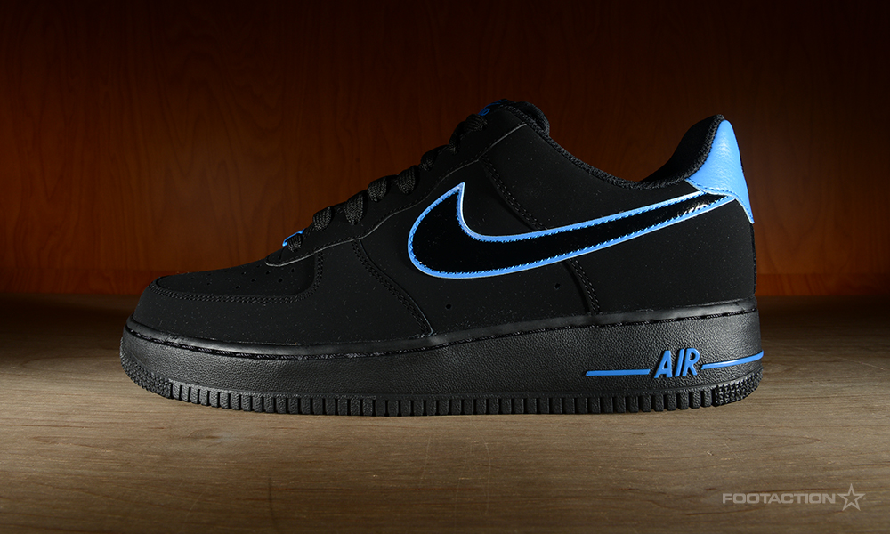 nike air force 1 low black and blue