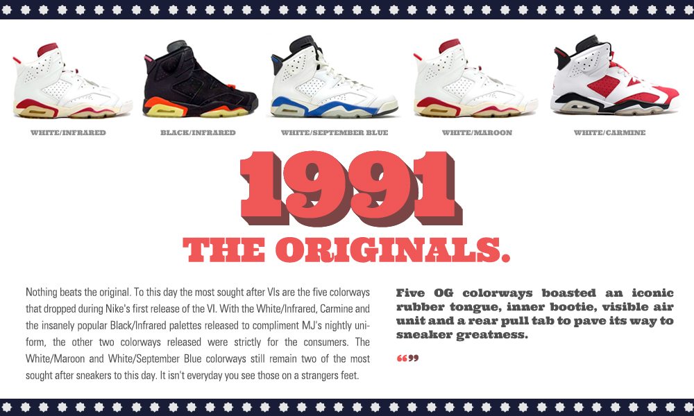 huge discount 904ef 0f63a The History Of The Air Jordan VI - Footaction Star ...