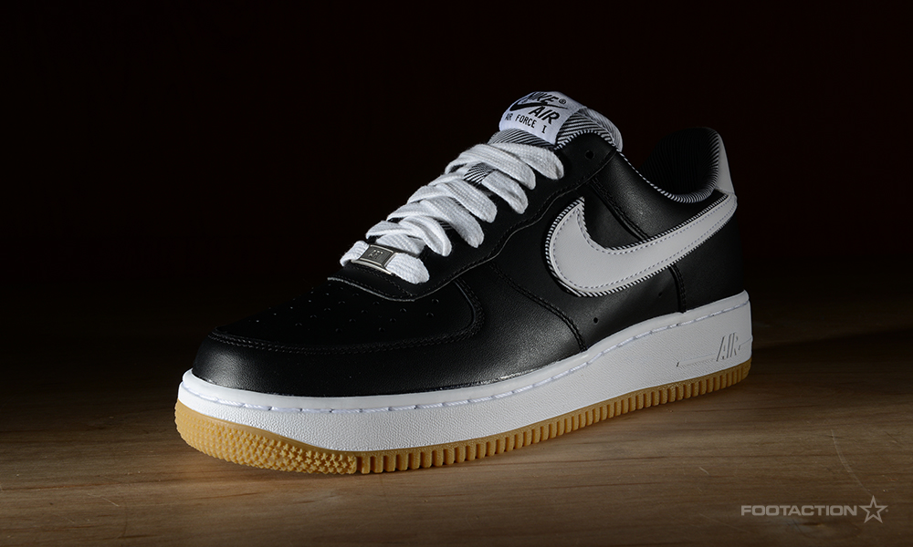 black air force ones with gum bottom