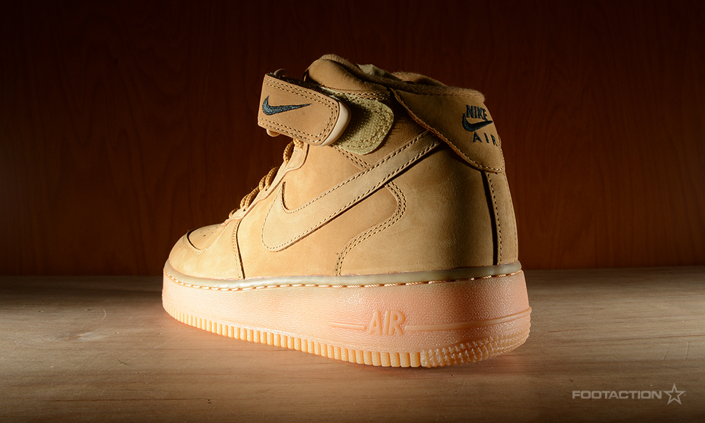brand new 421e4 8674a Nike Air Force 1 Mid Flax CollectionFootaction Star Club