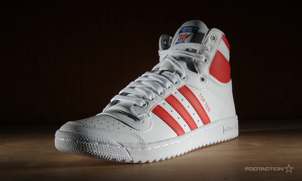 adidas Top Ten Hi shoes white blue red