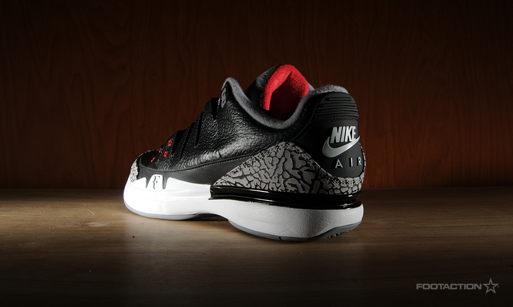 innovative design fc585 7cac3 NikeCourt Zoom Vapor AJ 3 'Black Cement'Footaction Star Club