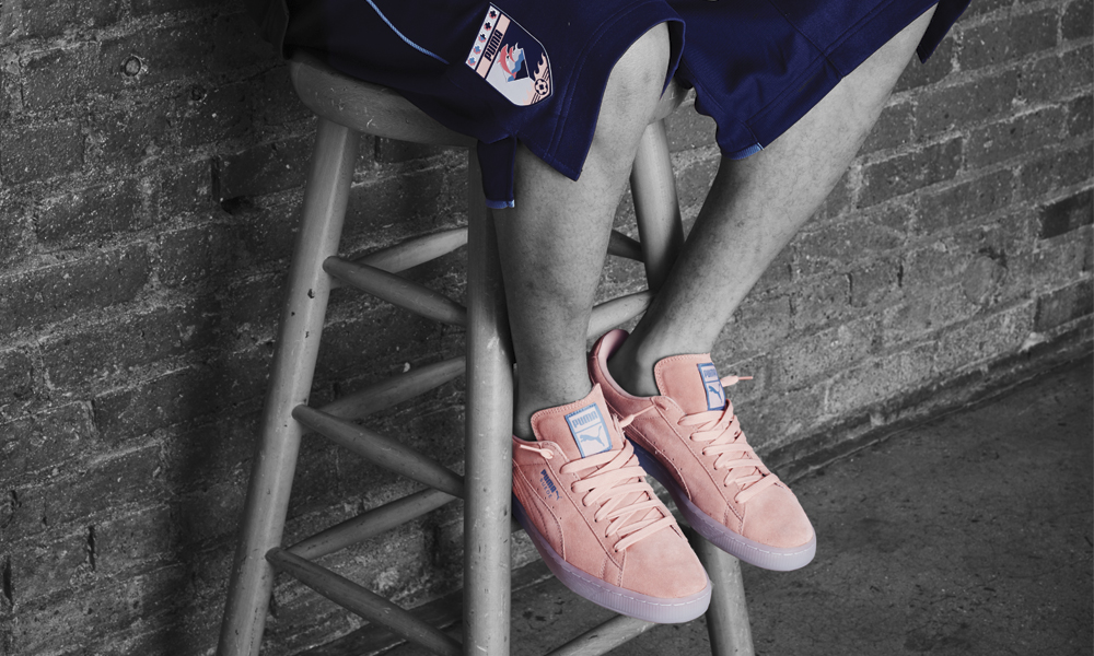 new style ee83c ddd24 PUMA X Pink Dolphin - Footaction Star ClubFootaction Star Club
