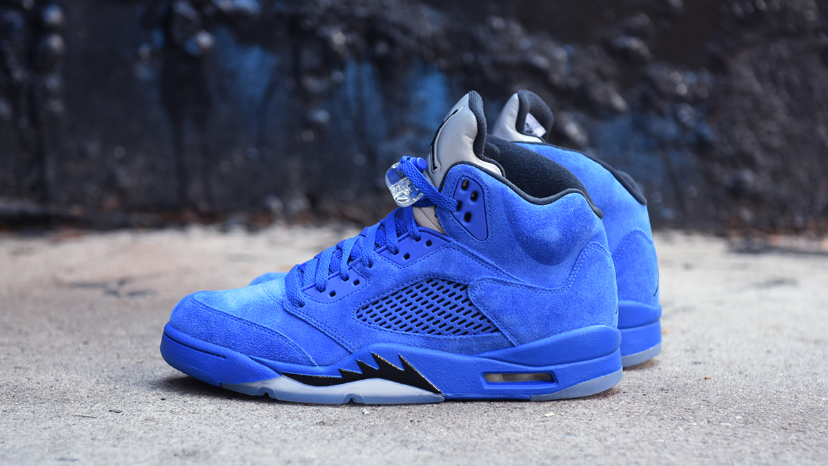 more photos ef699 32c50 Air Jordan 5 Blue Suede | Blog.Footaction.comFootaction Star ...