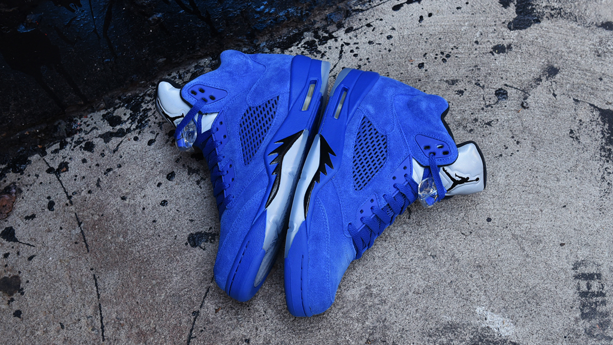 more photos 61022 3b31b Air Jordan 5 Blue Suede | Blog.Footaction.comFootaction Star ...